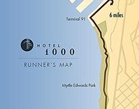 Hotel 1000 Running Map