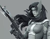 Huntress sculpt 2016