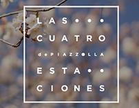 Afiche • Las Cuatro Estaciones de Piazzolla