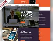Free Modern Website PSD Template