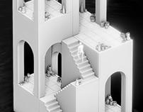 Lake - 3D Diorama