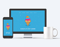 Website Concept Design - For Ice cream outlet