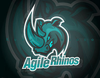 agile rhinos for e sport logo, and the others team