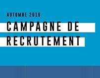 Campagne de recrutement - Automne 2016