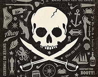 Pirate Pattern Print (Anderson Design Group)