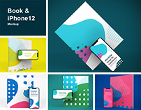 Book & iPhone 12 Mockup