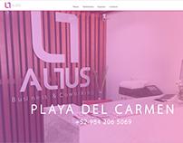 Sitio web ALTUS Business & Coworking