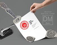 Wax Seal Stamp Stanless MOCKUP- DMR Studios