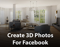 How to create 3D Photos for Facebook with 3dsmax Render