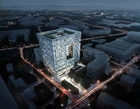 3D renderings--Office buildings