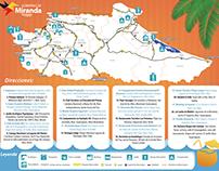 Mapa Vacacional de Turismo Miranda