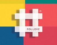 FOLLOVE Logo design