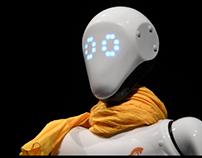 Robot humanoïde Crédit Agricole