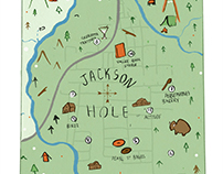 Map of Jackson Hole