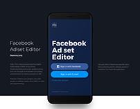Facebook Ad set Editor