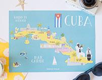 Cuba illustrated map for Tropico Polar