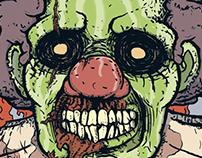 Dead Clown T-shirt. Old worck 2010 year