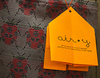 air•y logo and leaflet