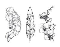 Illustrations 2014 — BW