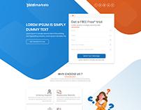 Pixelmarketo Lending page