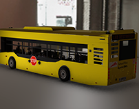 3D Dubai School Bus