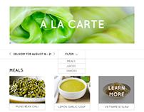 Food Startup Website Redesign