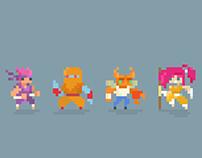 8-Bit Heroes #pixelart