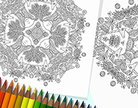 Free Unicorn Colouring Mandalas