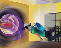 Editorial Illustration-Where Virtual Reality Takes Us