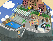 Illustration for Pool Party at the Lido, Malta