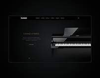 Casio Keyboards responsive website