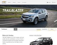 Página web de Chevrolet para Sudamérica