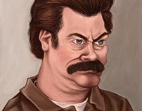 Ron Swanson Caricature