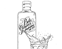 Bartenders Guide illustrations for Bols Genever