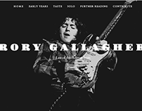 Rory Gallagher (A Short Introduction) Website