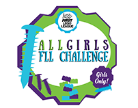 First Lego League All Girls Robotics Event Logo
