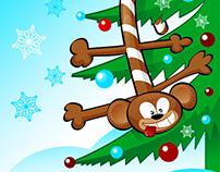 Monkey's 2016 year card