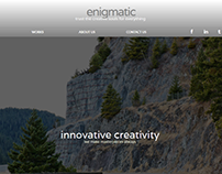 Engimatic Creative Portfolio Website Concept