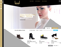 Level Shoe District Website Proposal