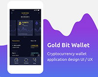 Cryptocurrency wallet application design UI / UX