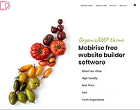 Mobirise free website builder software - OrganicAMP the