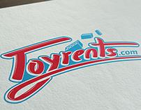 Toyrents | Hand drawn typo logo