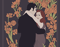 Art Nouveau Wedding Illustrations