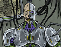 Robot Cyborg Illustration