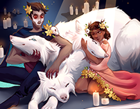 Hades and Persephone: Family Portrait
