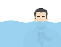 Políticos con el agua al cuello.