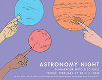 Astronomy Night Poster