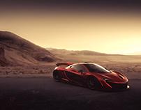 McLaren P1 in Death Valley