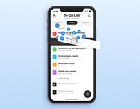 To-do app design concept