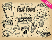 FREE FAST FOOD ILLUSTRATION IN PSD